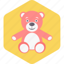 baby, play, teddy, toddler, toy, toys icon