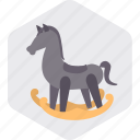 baby, horse, play, toddler, toy, toys icon
