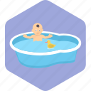 baby, bath, toddler, toy, tub, bathing