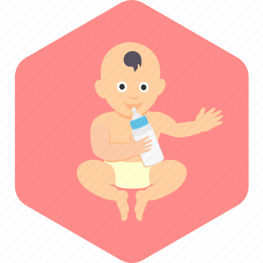 baby, bottle, boy, drink, face, happy, toddler icon