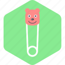 baby, beauty, girl, hairpin, toddler icon