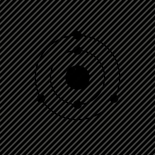 atom, boron, chemistry, electrons, element, nucleus, orbit, periodic table icon