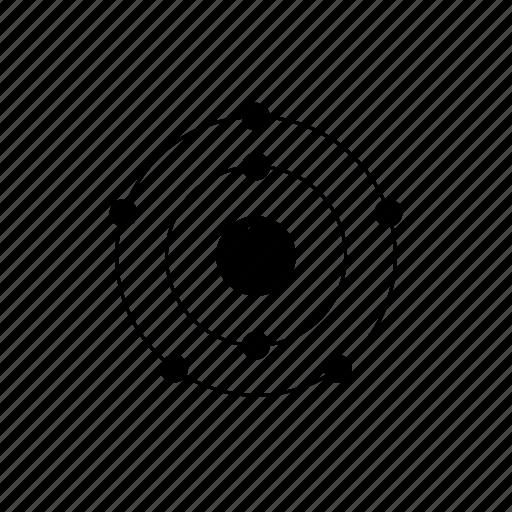 atom, chemistry, electrons, element, nitrogen, nucleus, orbit, periodic table icon