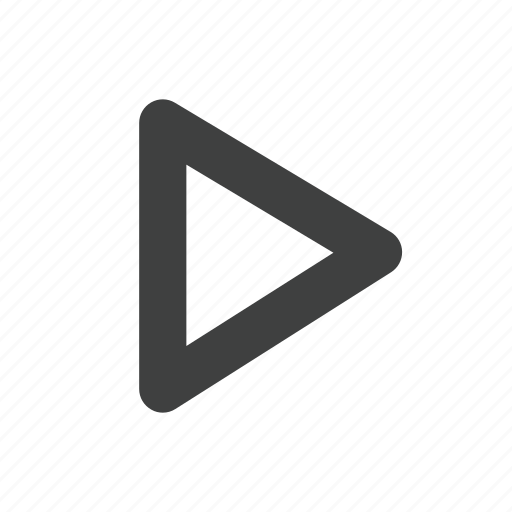 play, triangle icon