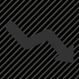 arrow, decrease, ecommerce, line, shape icon