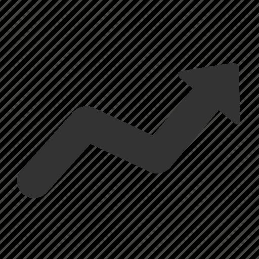 arrow, ecommerce, increase, line, shape icon