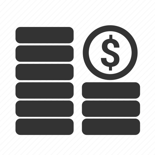 cash, currency, ecommerce, finance, money, payment, stack icon