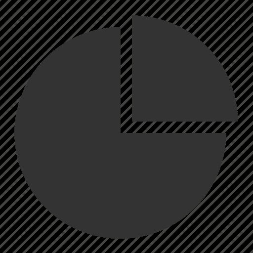 analytics, chart, diagram, ecommerce, graph, pie, round icon