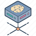 artificial intelligence, brain technology, creative brain, superintelligence icon