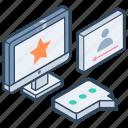 feedback, interactive multimedia, media platform, public network, social media, social networking icon