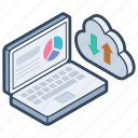 cloud computing, cloud data transfer, cloud hosting, cloud networking, cloud technology icon