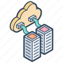 cloud computing, cloud hosting, cloud networking, cloud services, cloud technology icon