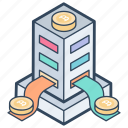 bitcoin cryptocurrency, bitcoin exchange, bitcoin transaction, blockchain transfer, cryptocurrency transfering icon