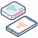 broadband network, wifi network, wifi router, wireless network, wireless technology icon