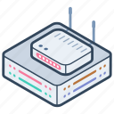 broadband modem, internet device, network router, wifi router, wireless router icon