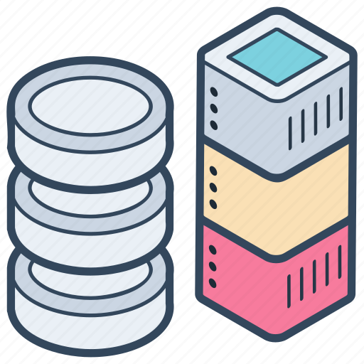 big data, data rack, data storage, database, datacenter icon