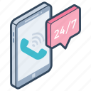 24/7 hr support, call center, call services, customer support, helpline icon
