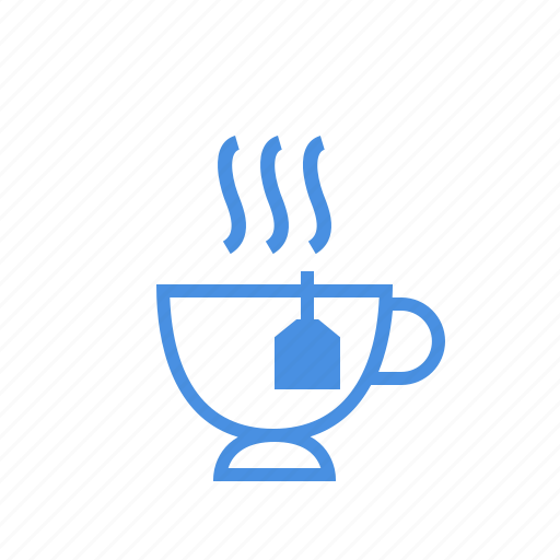 beverage, black tea, cup, drink, hot, tea, teabag icon
