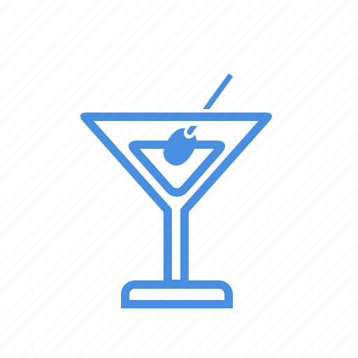 alcohol, beverage, drink, glass, martini, olive, vermouth icon