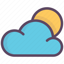 clear day, cloud, good weather, morning, sun, weather icon