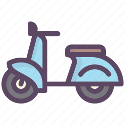 good time, passion, pastime, scooter, train icon
