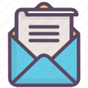 email, envelope, letter, mail, message, newsletter, valentine icon