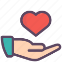 gesture, give, hand, heart, love, valentine, valentines icon