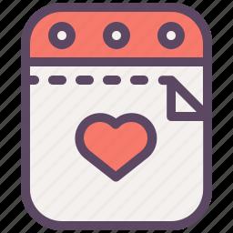 calendar, day confessions, day love, love, romantic, valentine, valentines icon