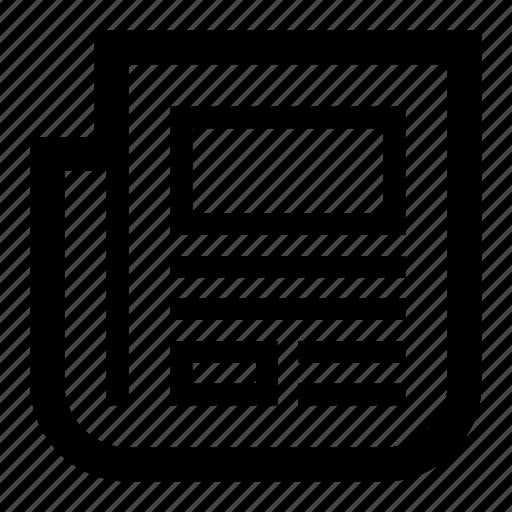 communication, news, newspaper, paper, press, tabloid icon