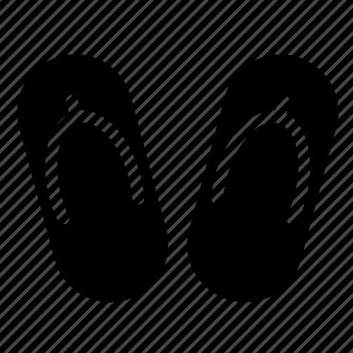 flipflop, footwear, sauna, slippers, spa icon