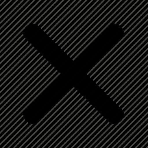 cancel, close, cross, delete, no, stop, x icon