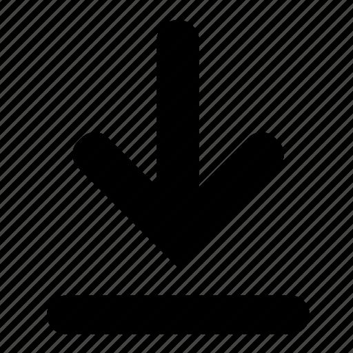 arrow, down, download, file, transfer icon