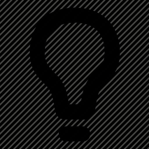 creative, energy, idea, innovation, lightbulb, vision icon