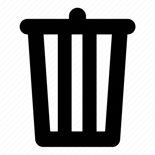 bin, delete, remove, rubbish, trash, trashcan icon