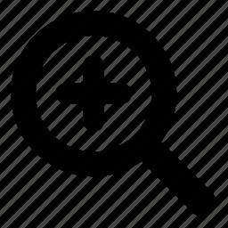 bigger, enlarge, magnify, zoom icon