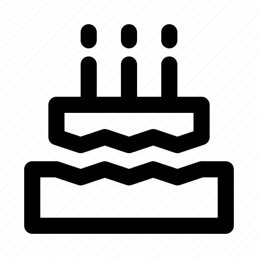 birthday, cake, festival, holiday, party icon