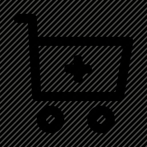 add, cart, commerce, shopping, supermarket, web icon