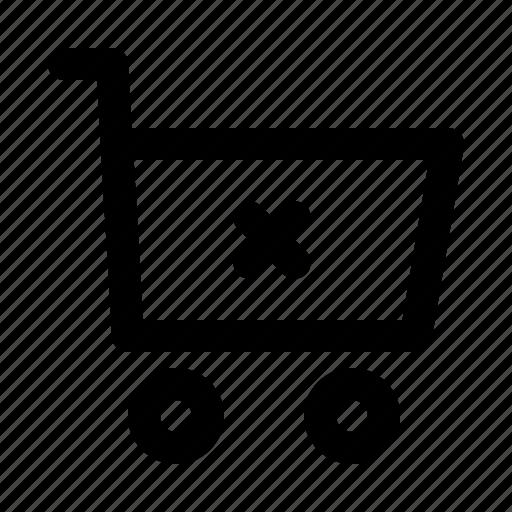 cart, commerce, delete, shopping, supermarket, web icon