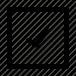 check, done, list, okay, square icon