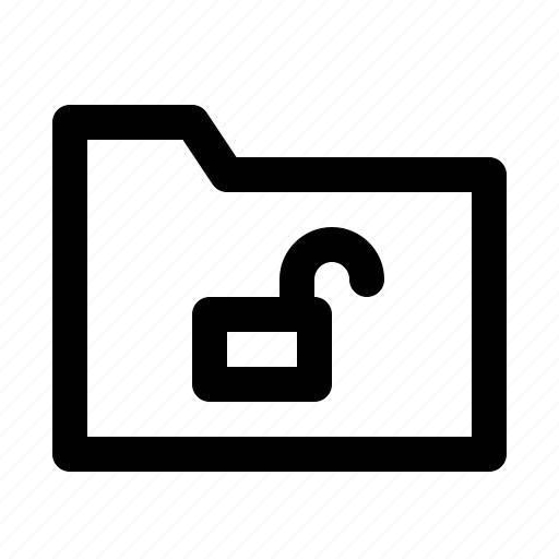 application, folder, interface, software, unlock, web icon