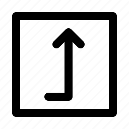 application, interface, level, software, square, up, web icon