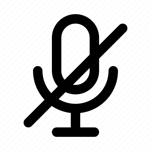 microphone, off, podcast, record, sound, voice icon