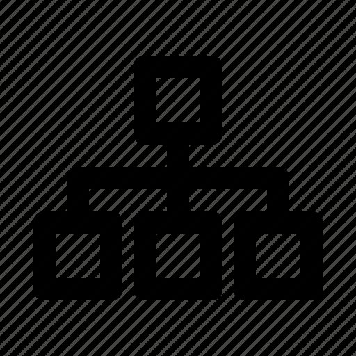 Hierarchy, organigram, sitemap, structure, web icon - Download on Iconfinder