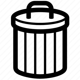 basket, bin, delete, junk, rubbish, trash icon
