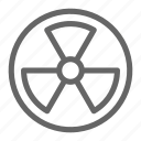 radiation, nuclear, military, atom, chemical, danger, bomb icon
