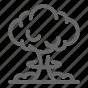nuclear, war, atomic, bomb icon
