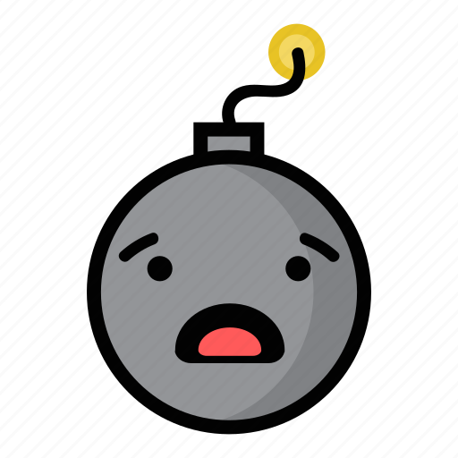 bomb, boom, dynamite, explode, surprised, weapon, worried icon