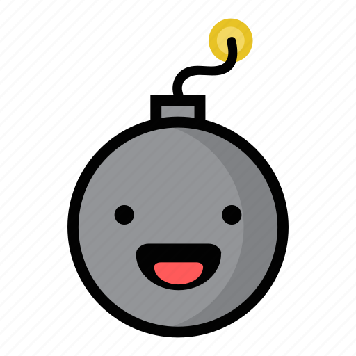 bomb, boom, dynamite, explode, happiness, laughing, weapon icon