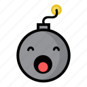 bomb, boom, dynamite, explode, sleepy, weapon, yawn icon