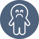 boo, ghost, halloween, sad, spooky icon